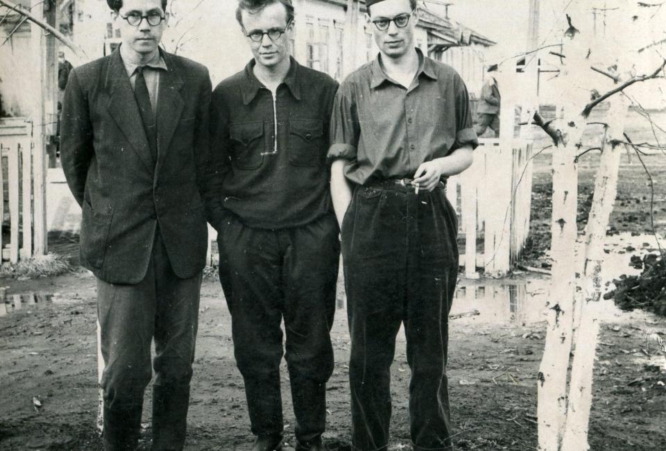 Иван Потапов, Алексей Голиков, Борис Пустынцев в Дубравлаге, Мордовия, до 1960.