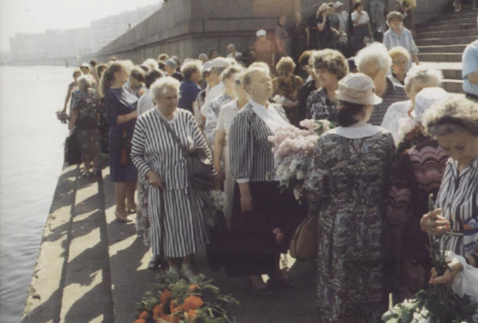 Акция памяти погибших в тюрьмах Ленинграда, 1990-е.