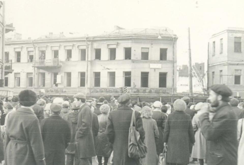 Митинг у дома Дельвига, 1986