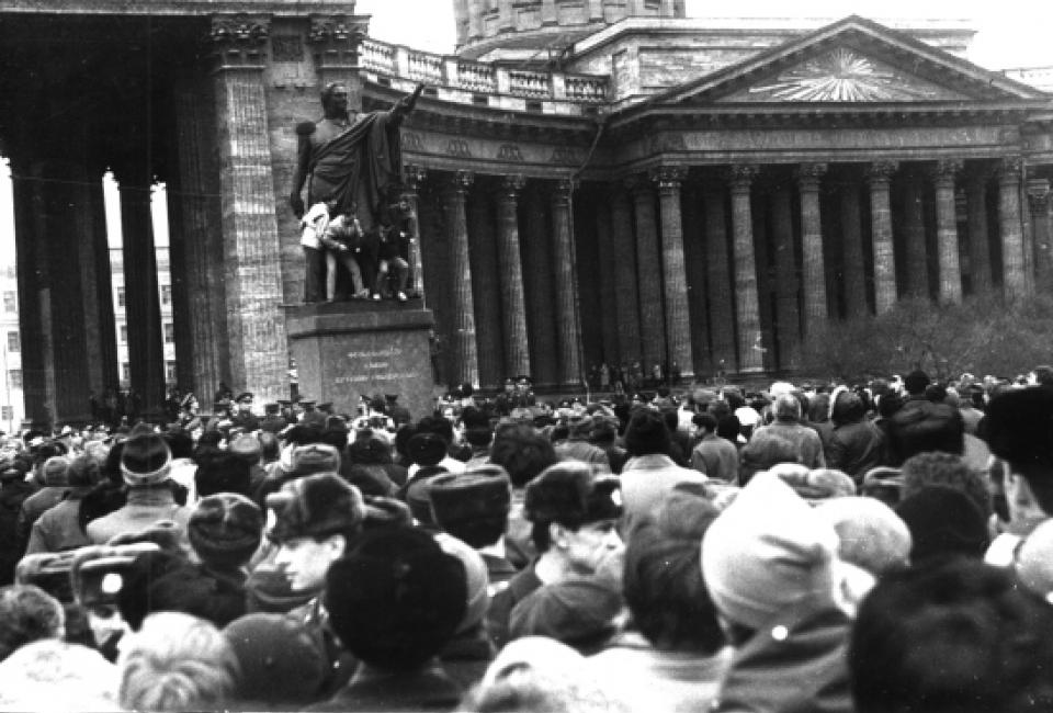 Митинг 12 марта 1989. Источник: Архив НИЦ «Мемориал»