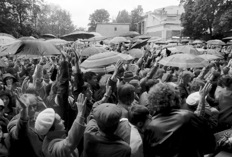 Митинг в Юсуповском саду, 14.06.1988. Фото В. Меклера.