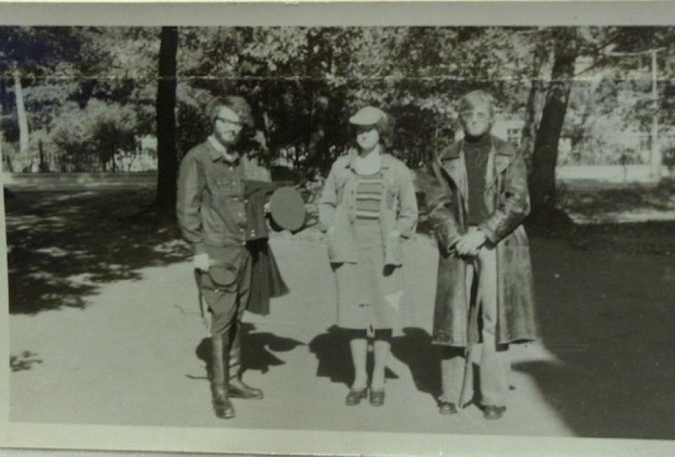 А.Скобов,Т.Комарова и Ф.Виноградов. 1977. Из архива Феликса и Марины Виноградовых