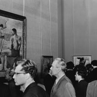 Выставка Пабло Пикассо в ГМИИ им. Пушкина, осень 1956. Источник: https://russiainphoto.ru/photos/70401/